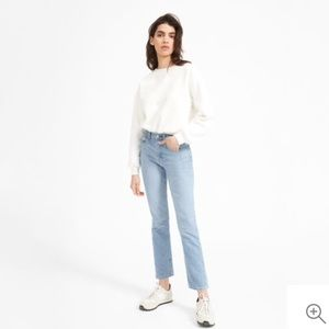 Everlane Cheeky Straight Ankle Jeans in Light Wash